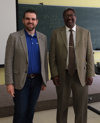 Will Healy III of Balluff Inc. and Dr. Augustus Morris, Chairman of Manufacturing Engineering at Central State University