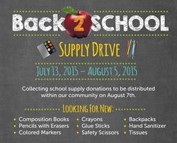 SCCU Back-2-School Supply Drive
