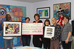 Chicago area women provide funds to artists with autism and other intellectual and developmental disabilities at Little City in Palatine, IL.