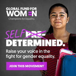 Global Fund for Women's new brand Identity