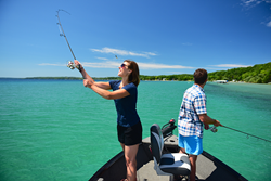 Fishing on Grand Traverse Bay