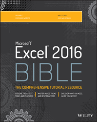 Excel 2016 Bible, Excel 2016 book, Excel 2016 guide, John Walkenbach, Microsoft Office books