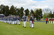 The Corps of Cadets at Fork Union Military Academy passes in review to honor the alumni of Greenbrier Military School.