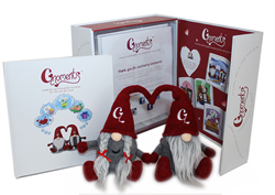 The Gnoments Kit includes includes 2 loving gnomes and storybook