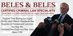 Oakland Criminal Lawyers at Beles & Beles