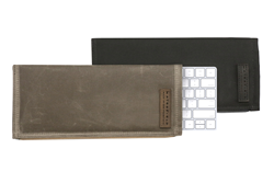 Magic Keyboard Slip Case—tan waxed canvas and black ballistic nylon