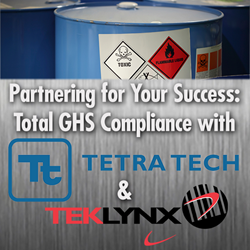 TEKLYNX and Tetra Tech partner to create complete GHS compliance solution.