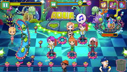 "Manage a popular club in mobile game ""Jean's Club""."