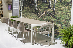 Goliath Outdoor Expanding Table And Nature Wallcovering From ConcreteWall