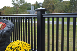 New Fiberon Symmetry Railing color in Serene Black