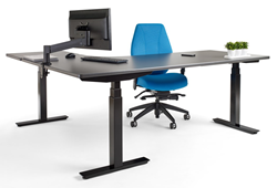 upCentric, 3 leg height electric adjustable table  ith airCentric