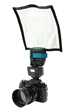 FlashBender 2 Mirrorless Soft Box Kit (shown with included shapeable reflector on Fuji X-T1)
