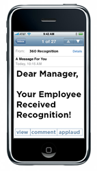 Manager to Employee Recognition