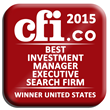 London based CFI.co announces Mack International as winner of the 2015 award for: Best Investment Manager Executive Search Firm United States