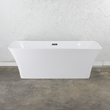 "Air Jetted Sandava67 Simplicity Collection 67"" long One Piece ACRYLIC Freestanding Bathtub"