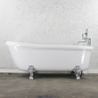 "Empress EM67N 67"" Water & Air Spa Jetted Slipper Clawfoot Tub Package with Water Heater and Chromotherapy"