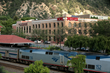 The Hotel Denver and Glenwood Springs train station