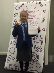 Isobel Eason came 3rd in the EuroTalk Junior Language Challenge