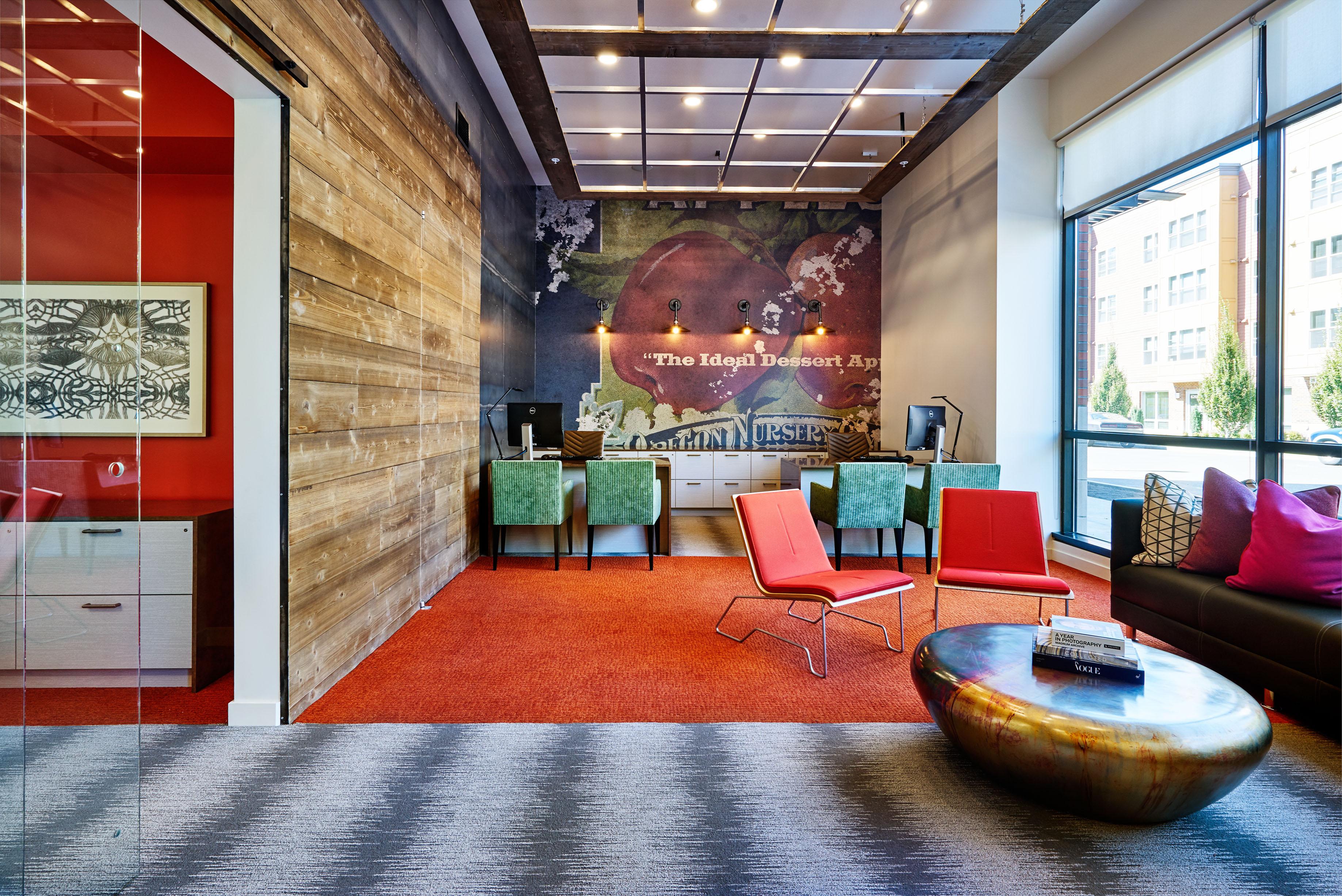 Best Corridor Design: Portland Interior Design Firm Uses Creative Color