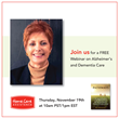 Home Care Assistance to Host Webinar for Caregivers on Alzheimer's and Dementia Care