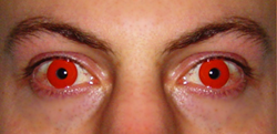 Cosmetic Contact Lens, Red