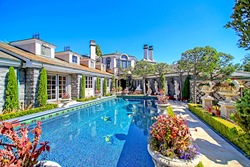 The estate at 22 Cypress Point Lane in Newport Beach, CA in the exclusive, gate guarded community of Big Canyon has one-of-a-kind Renaissance inspired elements throughout nearly 7,000 square feet of living space and 14,500 square foot landscaped grounds.