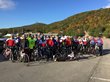 Riders at the beginning of the Face of America Liberty.