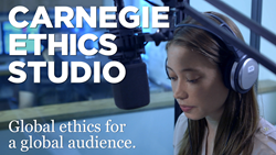 Carnegie Council Ethics Studio Records the Council Events