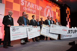 SPIE Startup Challenge 2015 winners and sponsors celebrate in San Francisco.
