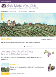 Gold Medal Wine Club New Site Design
