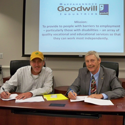 Bill Blevins and Donnie Tolson at Rappahannock Goodwill