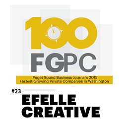 efelle creative 2015 Fastest Growing Private Companies