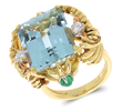 Tiffany and Company Schlumberger 14ct Aquamarine Ring