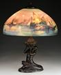 Handel Venetian Harbor Scene Lamp