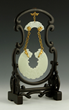 Chinese Framed Carved White Jade Pendant
