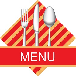 Illustration of Restaurant Menu on a Plate