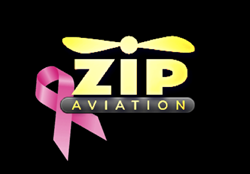 Zip Aviation Logo - Breast Cancer Awareness