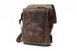 The Field Muzetto—full-grain, chocolate leather panel