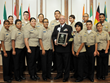 Inductee Harry G Oliver with the Santa Ana NJROTC which he has instructed for the past 19 years
