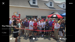 Grand opening of The Filling Station coffee house in Shallotte, North Carolina