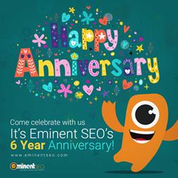 Eminent SEO 6th Anniversary