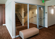 Highmark Medical Pavilion showing Fireframes® Designer Series door with Fireframes Aluminum Series sidelite and Pilkington Pyrostop® glass