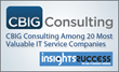 CBIG Consulting Among 20 Most Valuable IT Service Companies