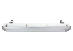 Hazardous Area Fluorescent Light Fixture with 8 Stainless Steel Latches