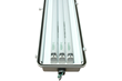 Class 1 Division 2 Fluorescent Light Fixture with Stainless Steel Pole Mount Brackets