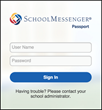 SchoolMessenger Passport Login Page