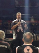 """First-time author and Kalitta Motorsports Crew Chief Jim Oberhofer speaks to his audience about his new book """"Top Fuel for Life: Life Lessons From A Crew Chief at his book launch at the Texas Motorple"""
