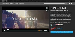 FCPX Effects - Pixel Film Plugins - FCPX LUT Fall