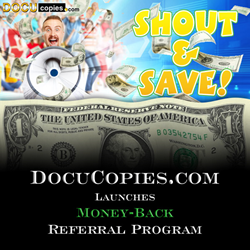 Get money back for every new referral who places an order with DocuCopies.com.