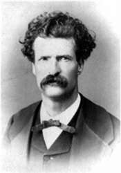 Mark Twain - in a rare photograph from his early days